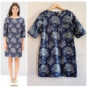 NEW! GAP Floral Denim Style Sheath Dress